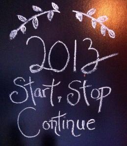 Start Stop Continue Jan. 2013