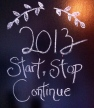 Start Stop Continue Jan. 2013