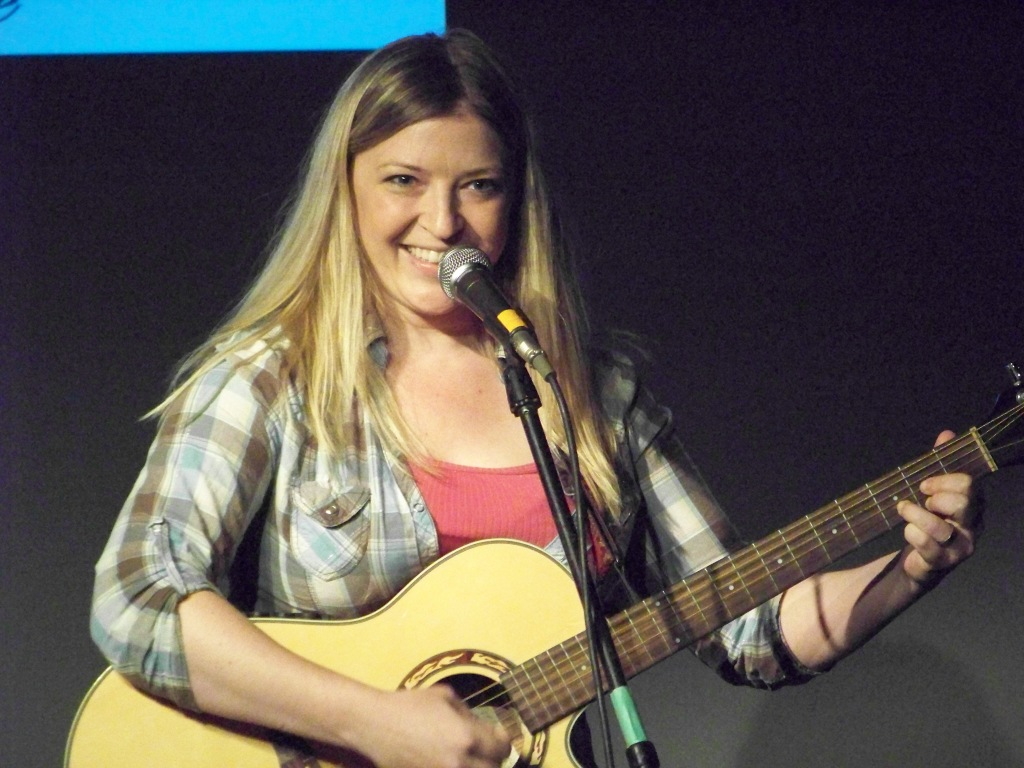 Chelsea Manders performs her brand of Music Comedy