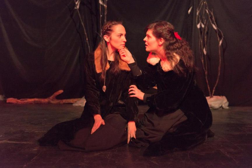 "Christina Bryson and Katie Ribout in ""As You Like It"" Photo Credit: Dahlia Katz Photography"