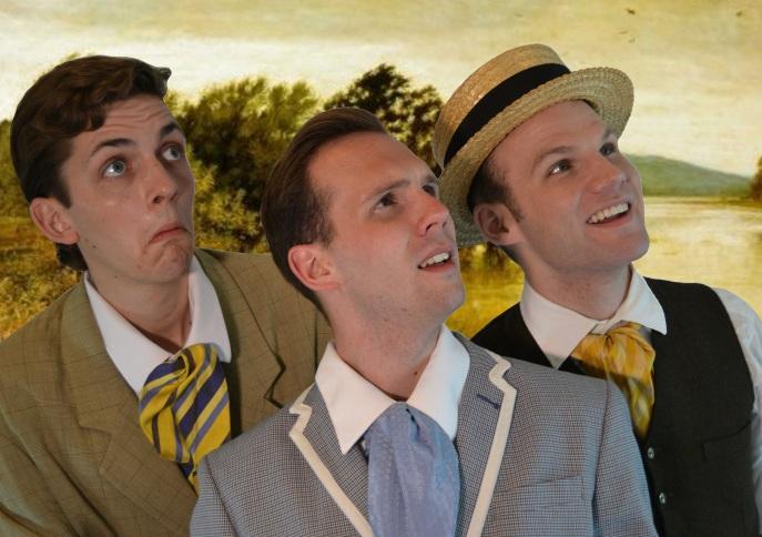 Three Men in a Boat Cast from left to right: Victor Pokinko, Matt Pilipiak, Scott Garland